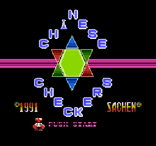 Screenshot Thumbnail / Media File 1 for Chinese Checkers (Asia) (Unl) (NES)