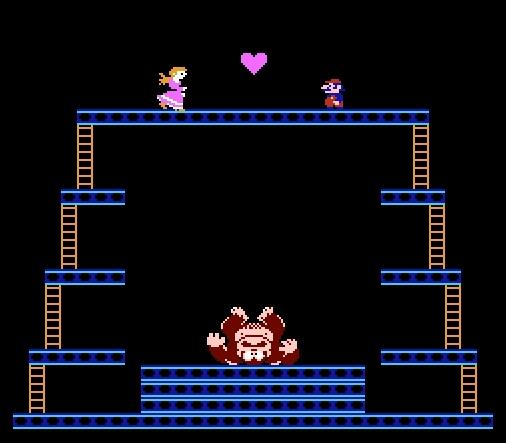 Screenshot Thumbnail / Media File 9 for Donkey Kong (World) (Rev A)