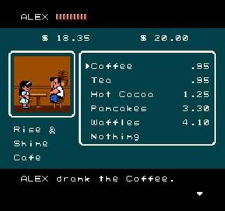 River City Ransom Food Stats