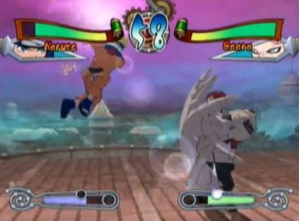 Naruto: shinobi no sato no jintori kassen (ps1) gameplay naruto vs.