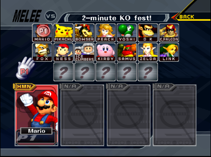 Super Smash Melee Cheats