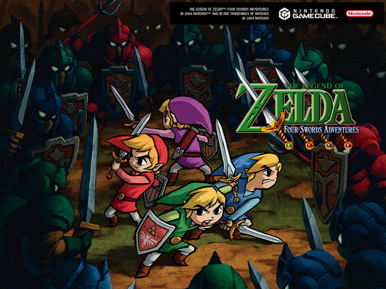 how to play legend of zelda four swords gba