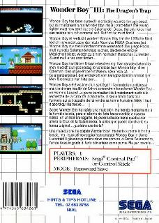 Screenshot Thumbnail / Media File 1 for Wonder Boy III - The Dragon's Trap (USA, Europe)