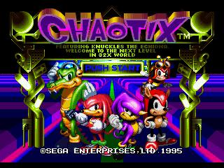 Screenshot Thumbnail / Media File 1 for Knuckles' Chaotix (32X)