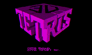 Screenshot Thumbnail / Media File 1 for 3-D Tetris (USA)