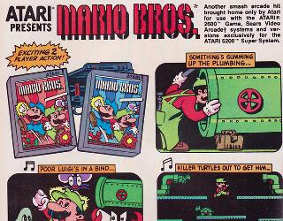 Screenshot Thumbnail / Media File 1 for Mario Bros. (1983) (Atari, Dan Hitchens) (CX2697)