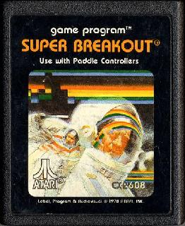 Screenshot Thumbnail / Media File 1 for Super Breakout (Paddle) (1982 - 1981) (Atari, Carol Shaw, Nick 'Sandy Maiwald' Turner - Sears) (CX2608 - 49-75165)