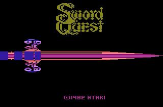 Screenshot Thumbnail / Media File 1 for Swordquest - EarthWorld (Adventure I, SwordQuest I - Earthworld) (1982) (Atari, Dan Hitchens) (CX2656)