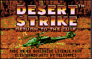 Screenshot Thumbnail / Media File 1 for Desert Strike - Return to the Gulf (USA, Europe)