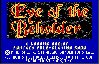Screenshot Thumbnail / Media File 1 for Eye of the Beholder (USA) (Proto)