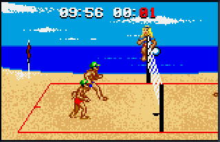 Screenshot Thumbnail / Media File 1 for Malibu Bikini Volleyball (USA, Europe)