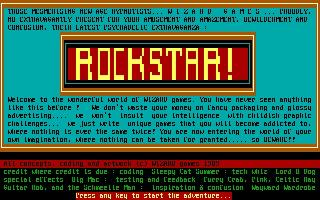Screenshot Thumbnail / Media File 1 for Rockstar (1989)(Wizard Games)