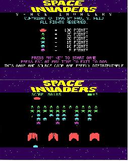 Screenshot Thumbnail / Media File 1 for Space Invaders (1995)(Paul Reid)